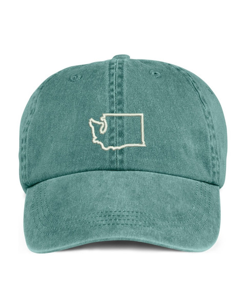 Washington State Map Outline Embroidered Hat