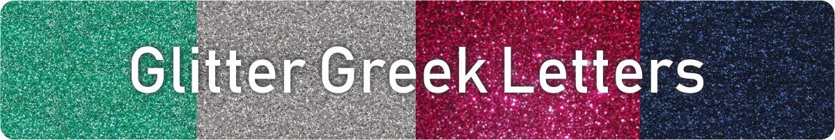 Glitter Greek Letters from Greek Letter Me