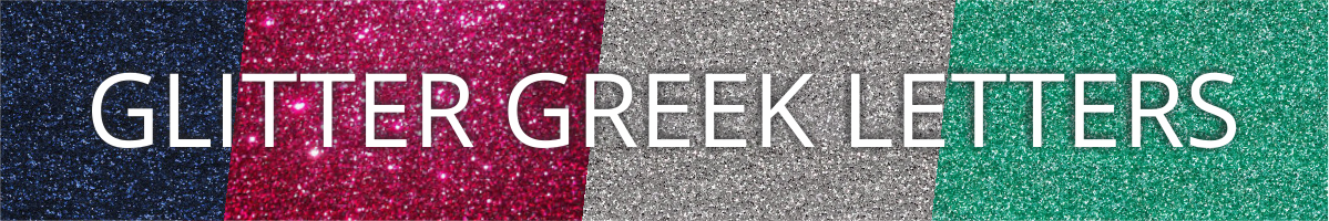 Glitter Greek Letters from Greek Letter Me