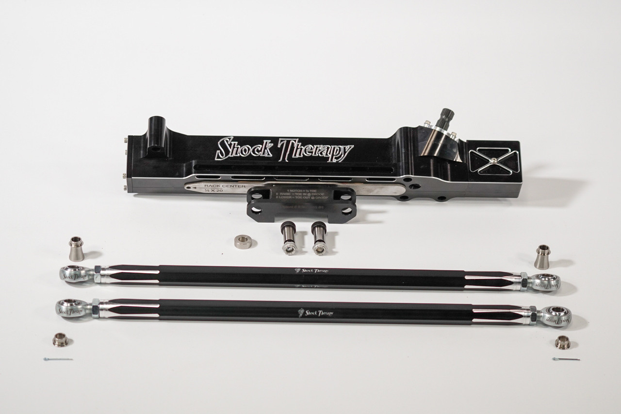 Rack rack with full tie rod kit including BSD spacers