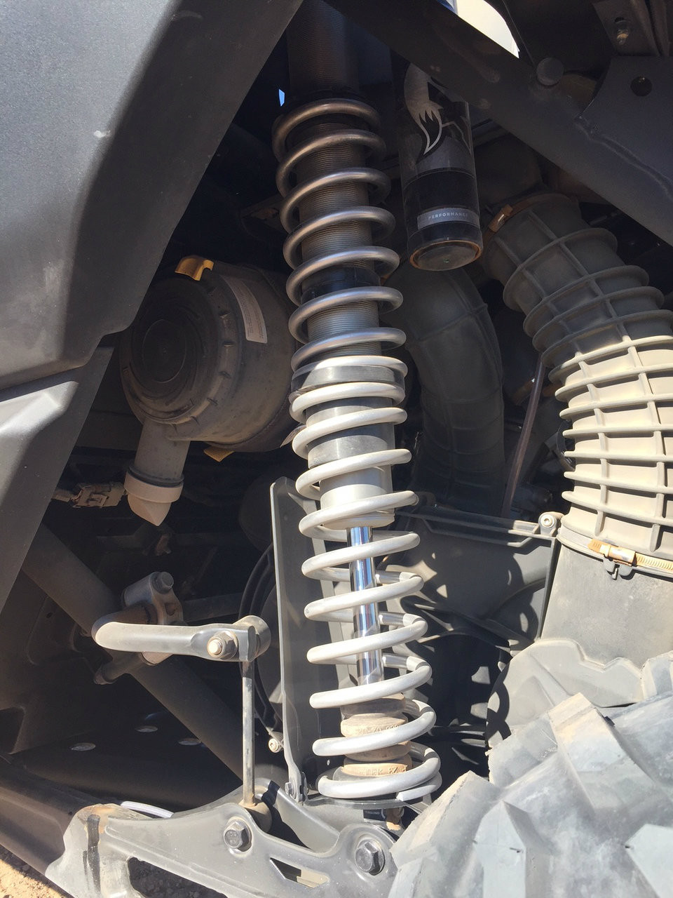 Rear springs installed