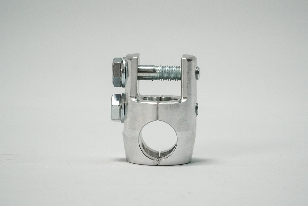 "CNC aluminum arm clamps. Comes in stock lower control arm size of 1.00"" and in aftermarket arms sizes of 1.100"" and 1.25"""