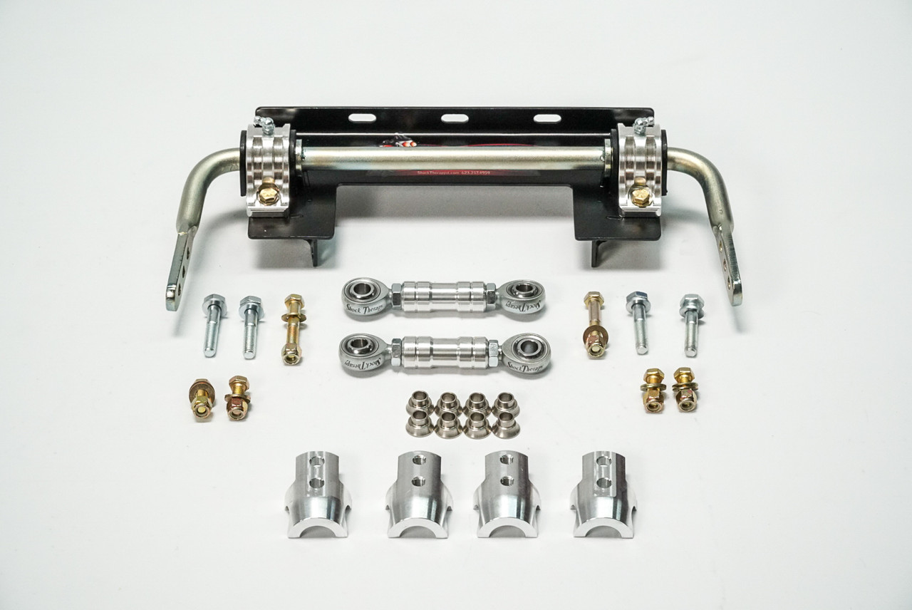 Complete front sway bar kit