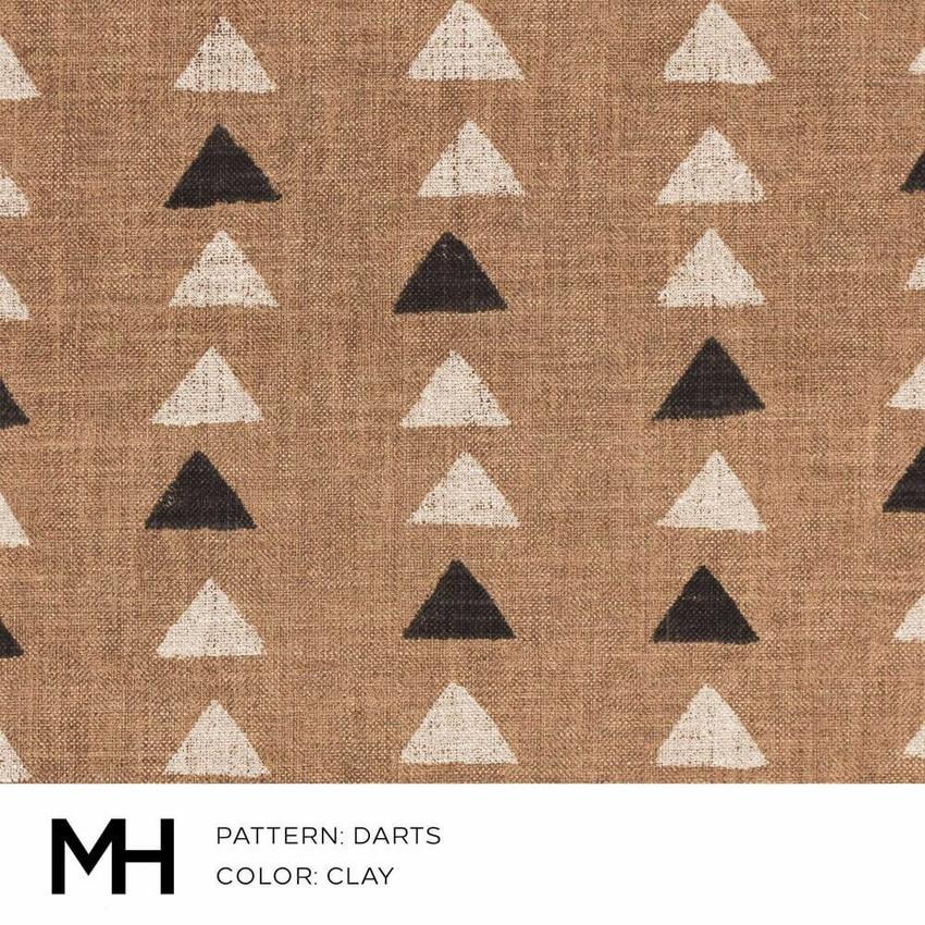 Darts Clay Fabric Swatch