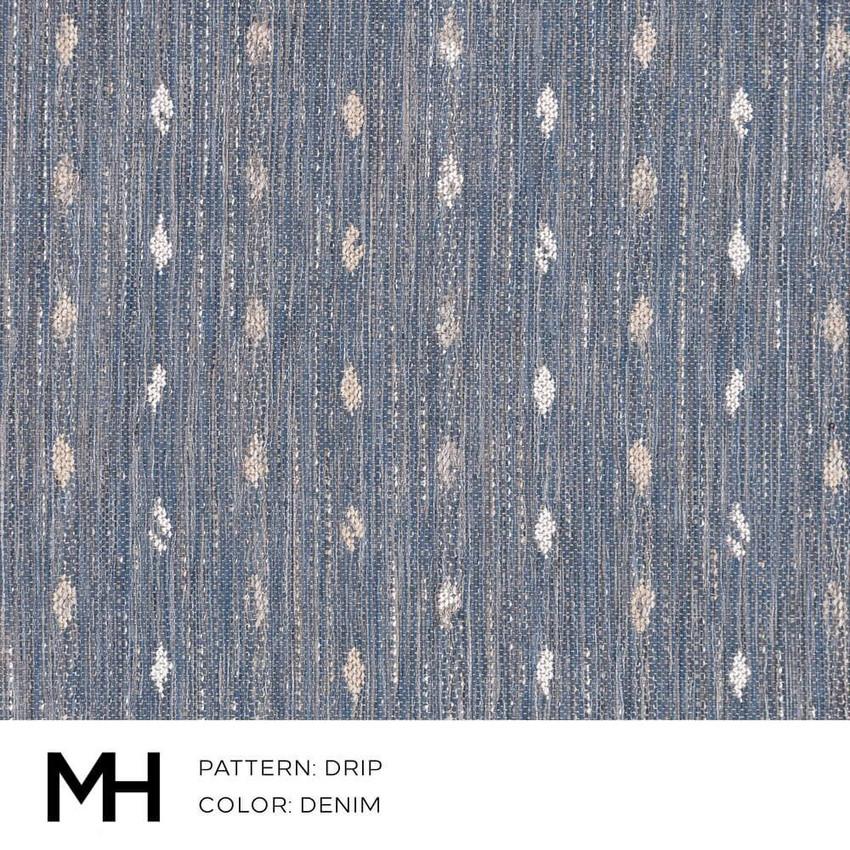 Drip Denim Fabric Swatch