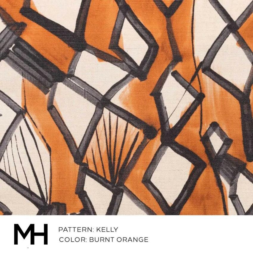Kelly Burnt Orange Fabric Swatch