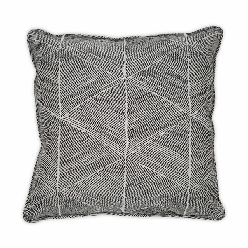 """Moss Home Blurred Lines  22"""" Pillow in Black, 22"""" throw pillow, accent pillow, decorative pillow"""