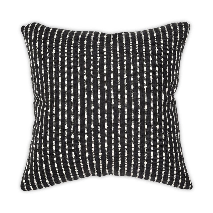 Moss Home Alexander Luxury Throw Pillow, Moss Studio Alexander Pillow in Black
