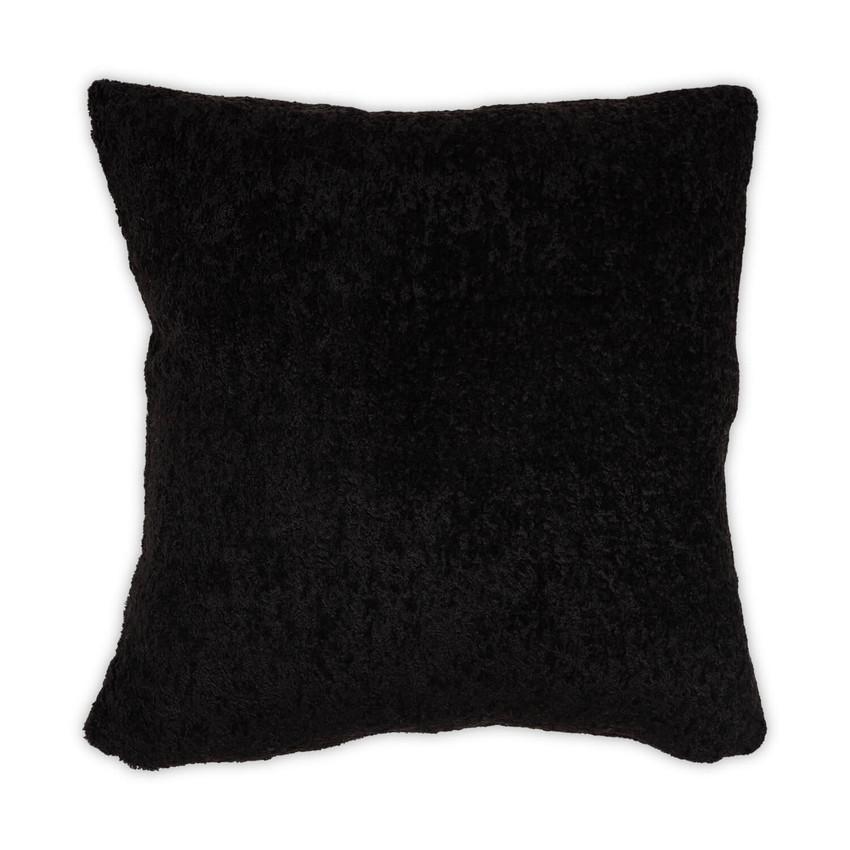 Moss Home Polar Luxury Throw Pillow, Moss Studio Polar Pillow in Black