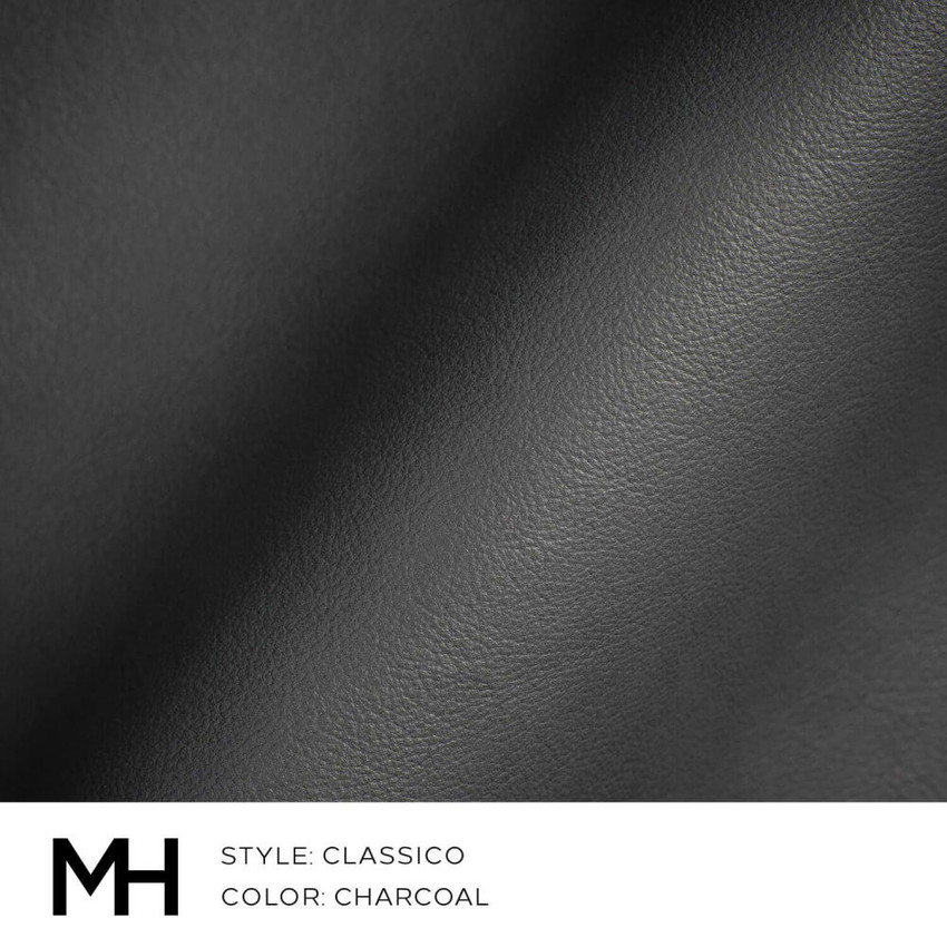 Classico Charcoal Leather Swatch