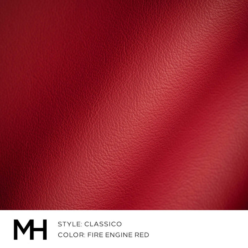Classico Fire Engine Red Leather Swatch