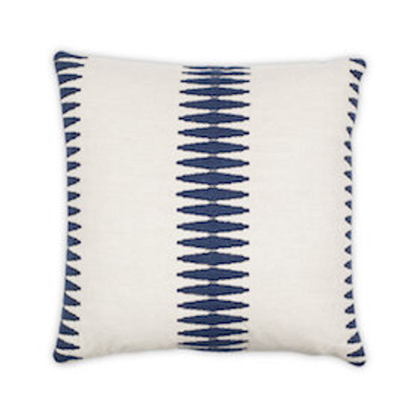 "Moss Home Sabina 22"" Pillow in Navy,  22"" throw pillow, accent pillow, decorative pillow"