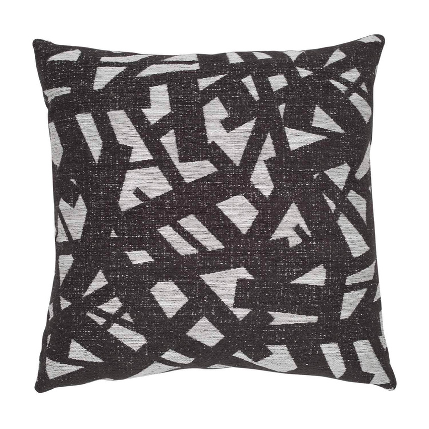 "Moss Home Scribbles 22"" Pillow in Graphite,  22"" throw pillow, accent pillow, decorative pillow"