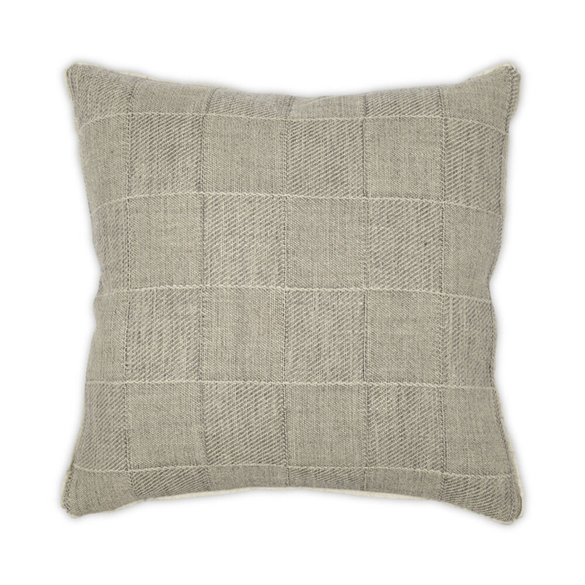 "Moss Home Squared Up 22"" Pillow in Driftwood,  22"" throw pillow, accent pillow, decorative pillow"