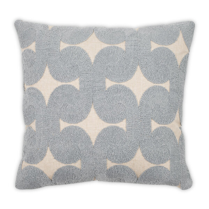 "Moss Home Swanky 22"" Pillow in Steel,  22"" throw pillow, accent pillow, decorative pillow"