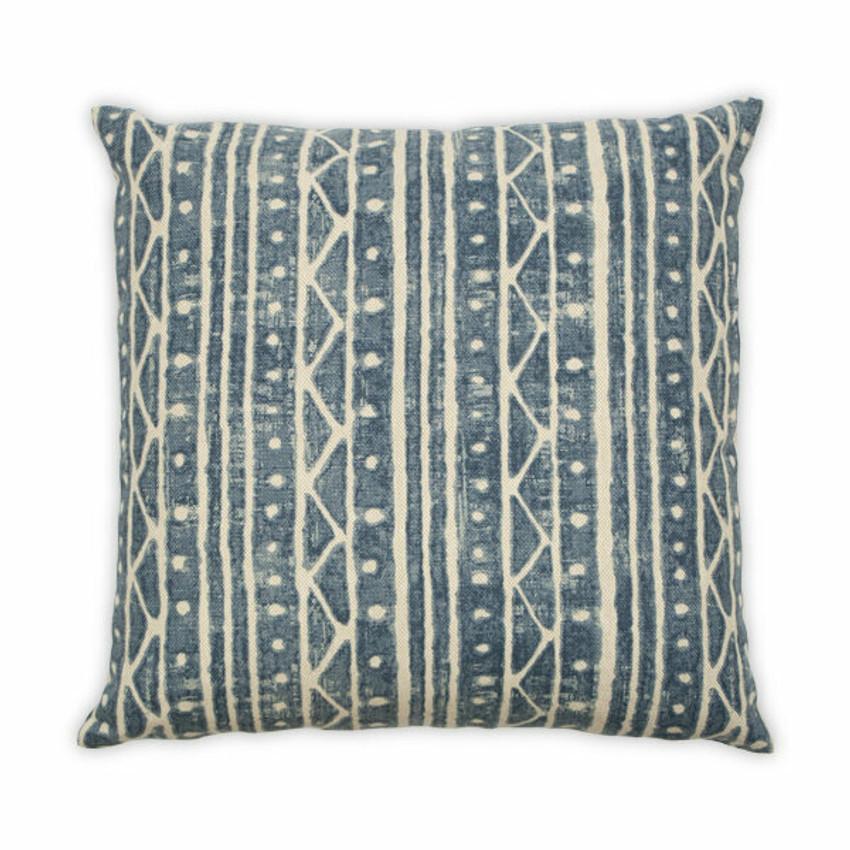 """Moss Home Tribal 22"""" Pillow in Blue,  22"""" throw pillow, accent pillow, decorative pillow"""