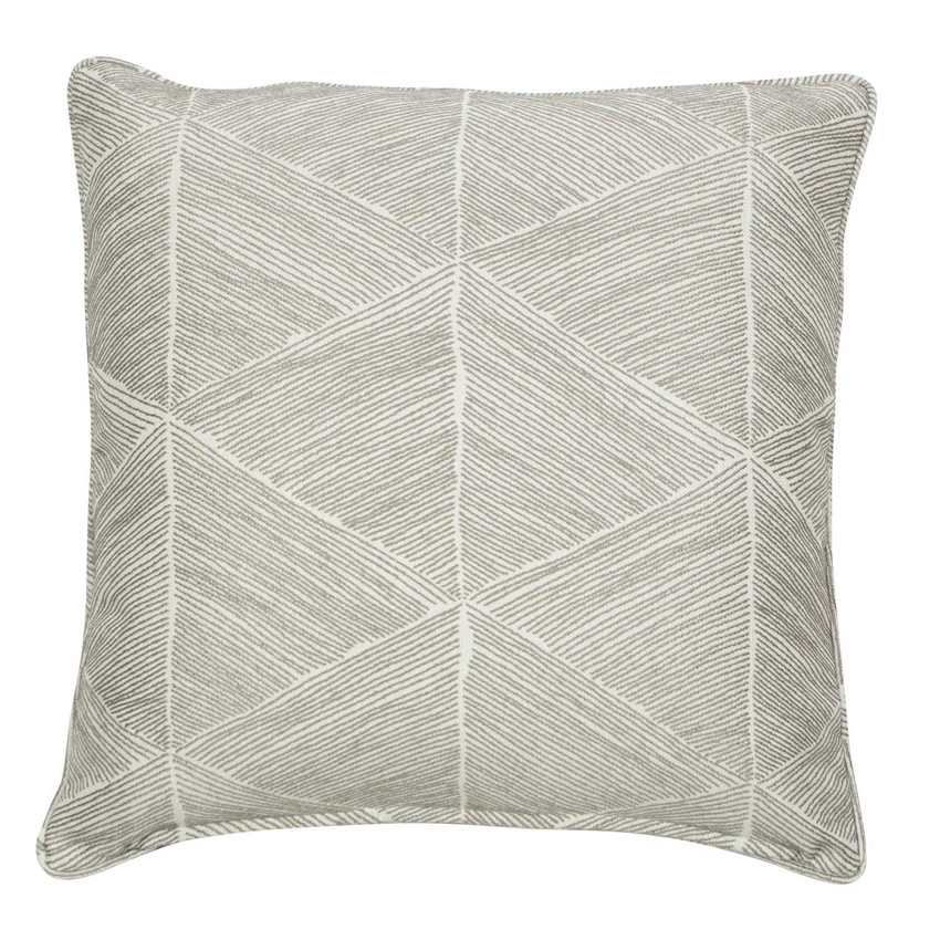 """Moss Home Blurred Lines 22"""" Pillow in Nickel,  22"""" throw pillow, accent pillow, decorative pillow"""