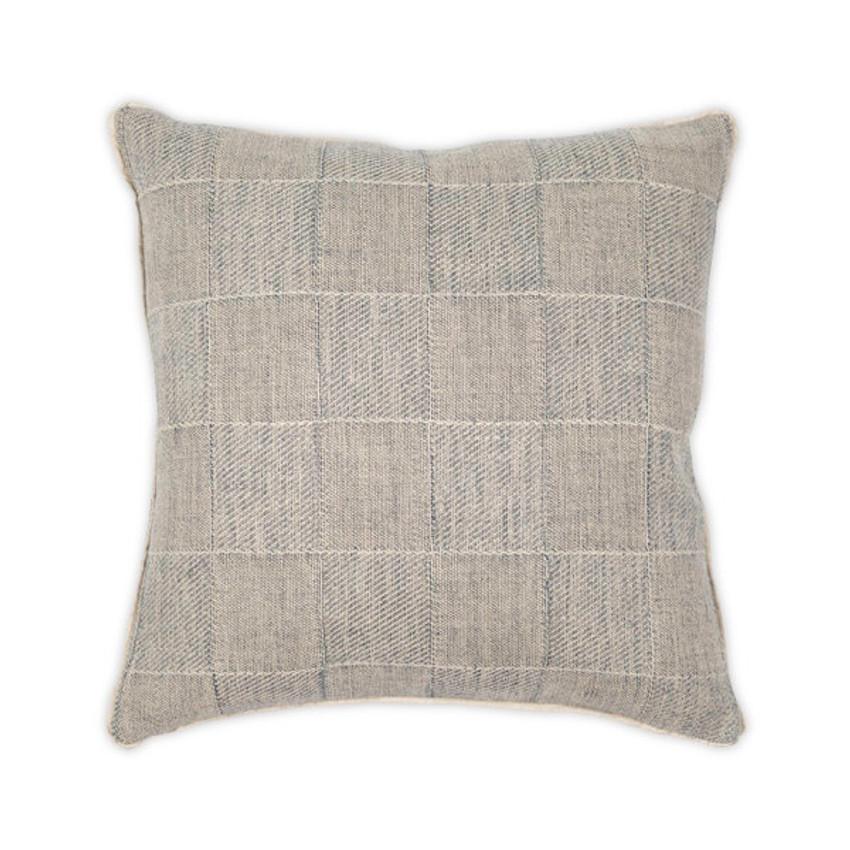 "Moss Home Squared Up 22"" Pillow in Indigo, 22"" throw pillow, accent pillow, decorative pillow"