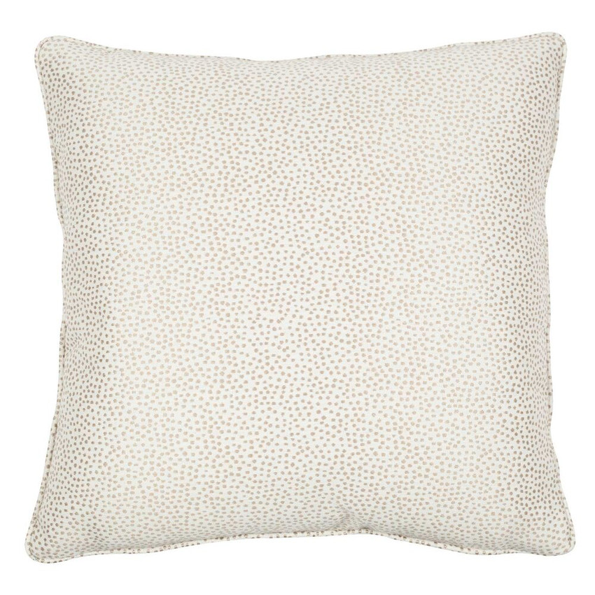"""Moss Home Dotted 22"""" Pillow in Natural, 22"""" throw pillow, accent pillow, decorative pillow"""