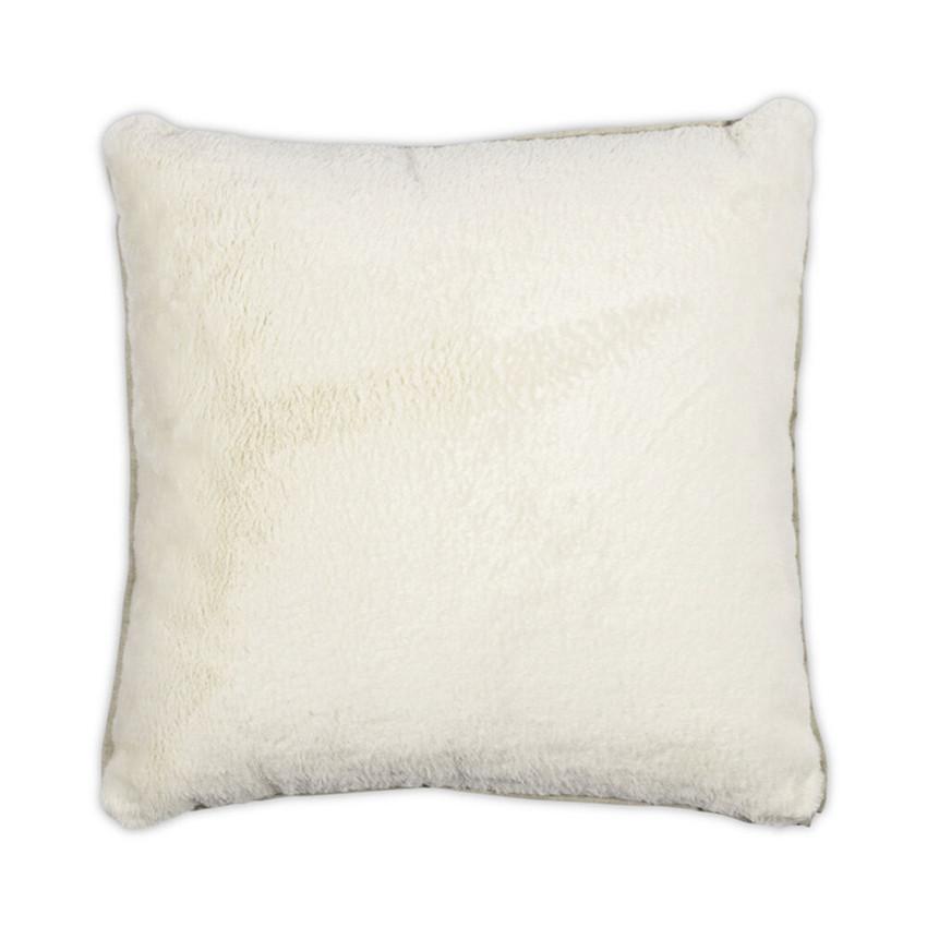 Moss Home Bunny Flanged Pillow,  throw pillow, accent pillow, bunny flanged throw pillow in cream