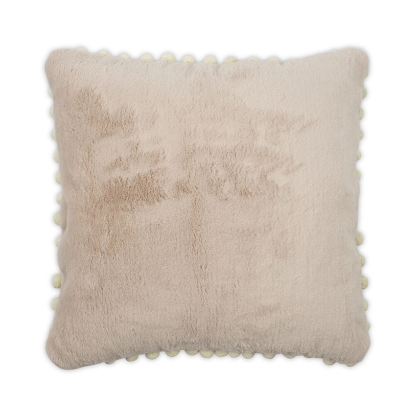 Moss Home Bunny Pom Pom Pillow,  throw pillow, accent pillow, bunny pom pom throw pillow in blush