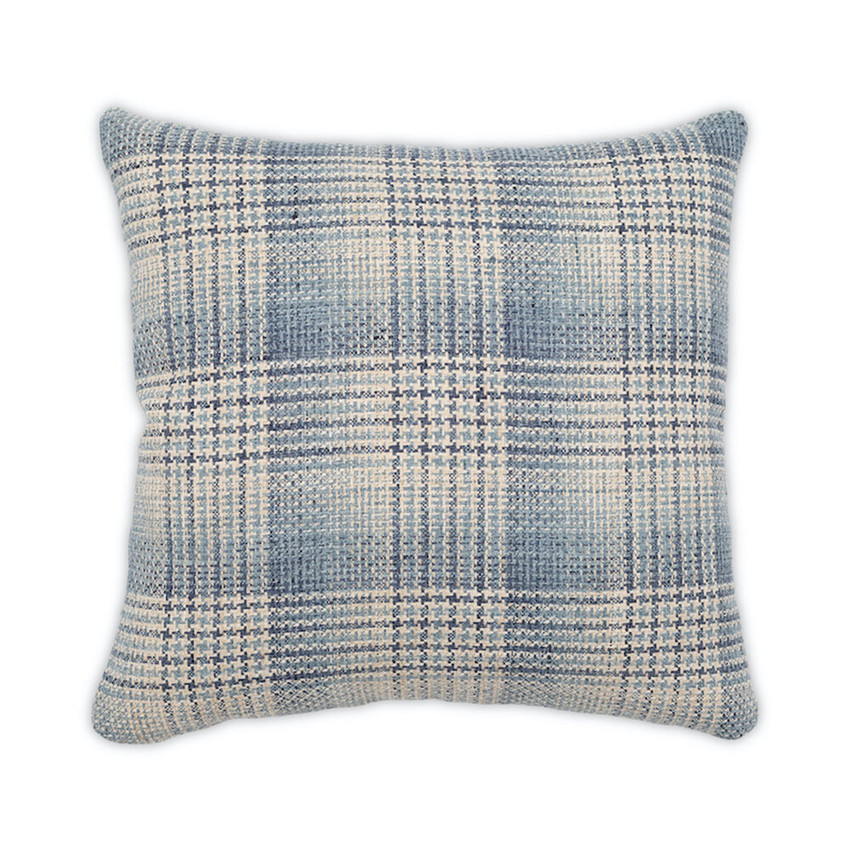 Moss Home Checked Out Pillow,  trend throw pillow, accent pillow, checked out throw pillow in denim