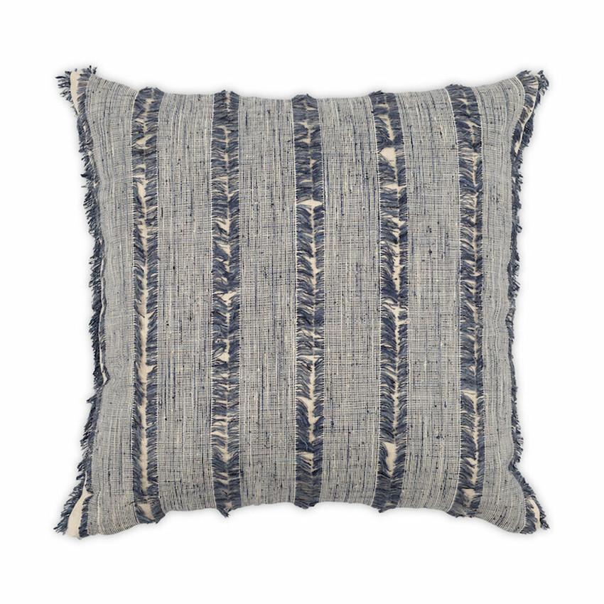 Moss Home Frayed Up Denim Pillow,  trend throw pillow, accent pillow, Frayed Up Denim throw pillow in denim