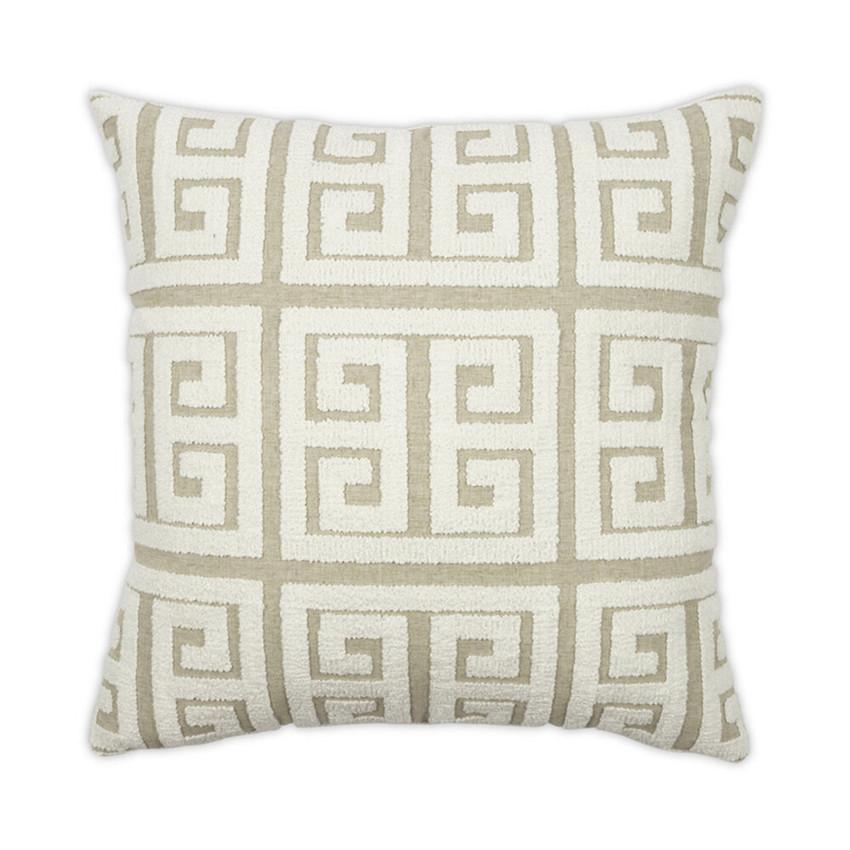Moss Home Greek Key Pillow,  trend throw pillow, accent pillow, greek key throw pillow in white