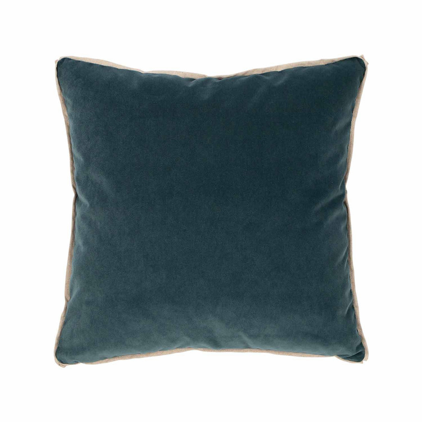 Moss Home Banks Pillow in Calypso, velvet throw pillow, accent pillow, decorative pillow