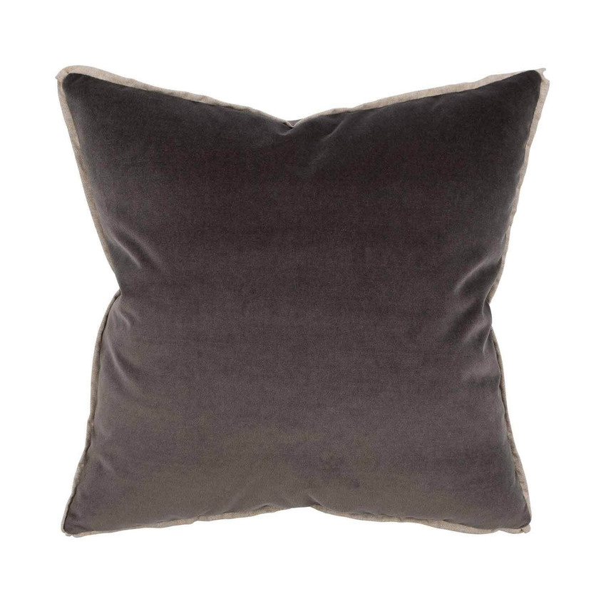 Moss Home Banks Pillow in Charcoal, velvet throw pillow, accent pillow, decorative pillow