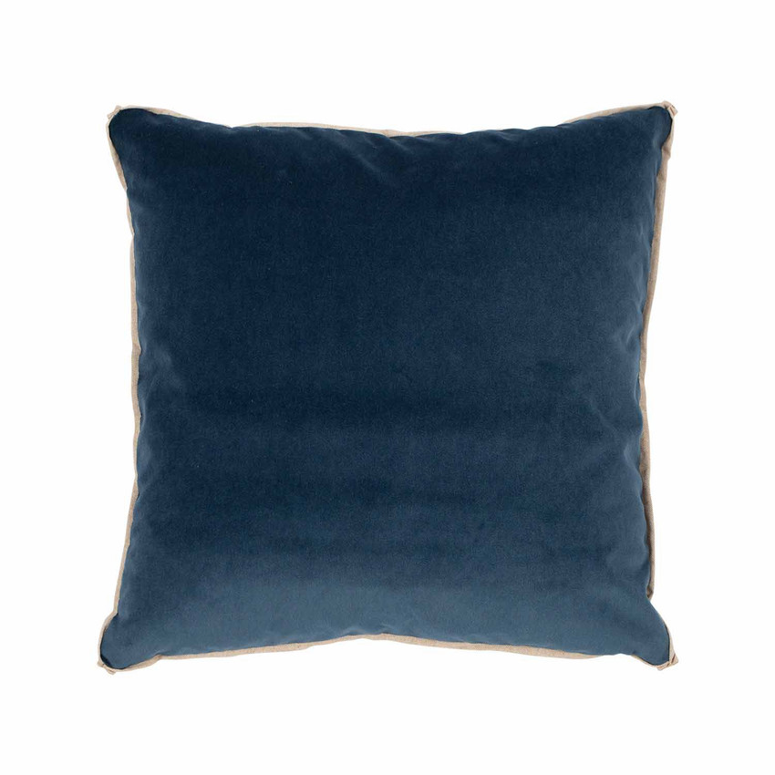 Moss Home Banks Pillow in Cobalt, velvet throw pillow, accent pillow, decorative pillow