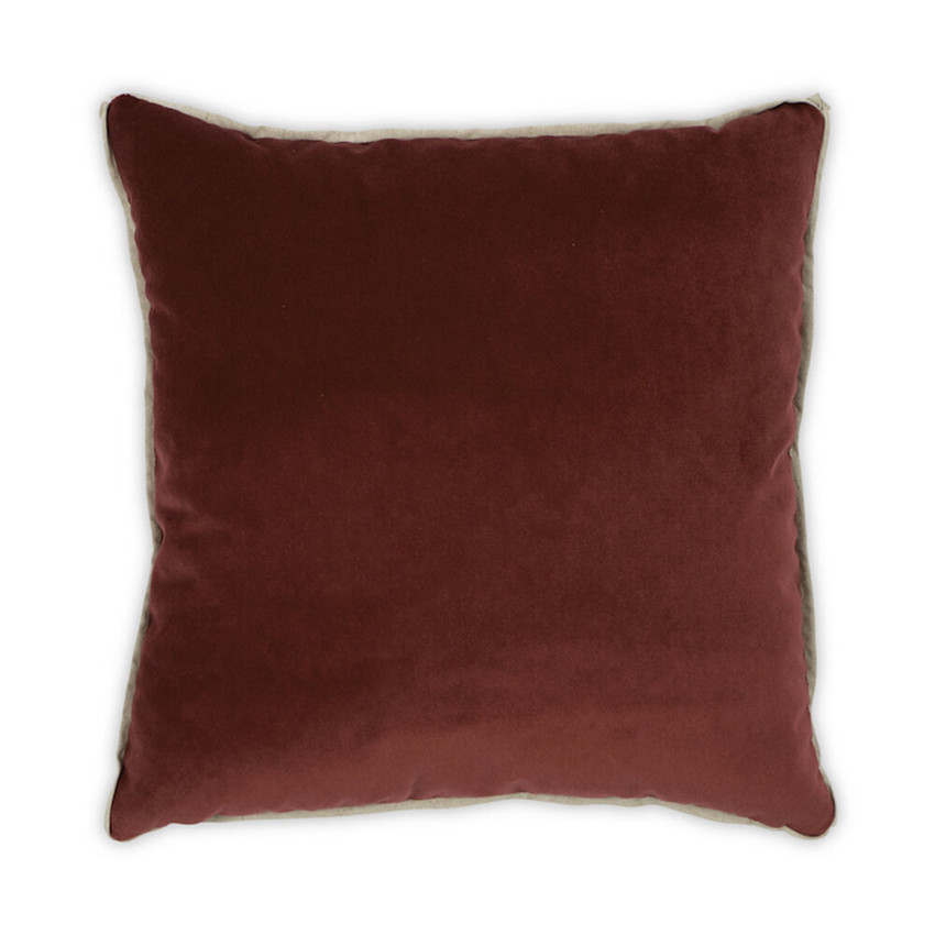 Moss Home Banks Pillow in Currant, velvet throw pillow, accent pillow, decorative pillow