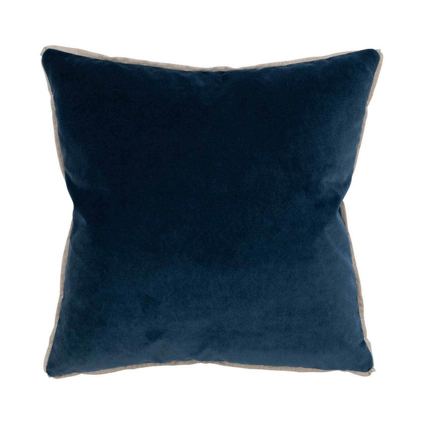 Moss Home Banks Pillow in Denim, velvet throw pillow, accent pillow, decorative pillow