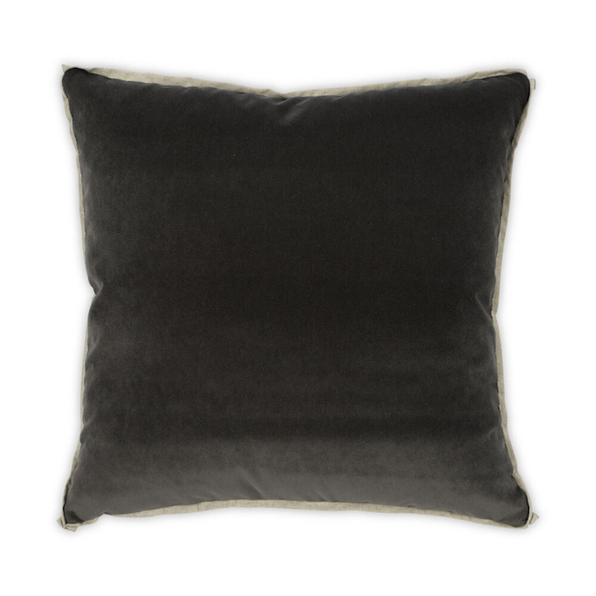 Moss Home Banks Pillow in Ebony, velvet throw pillow, accent pillow, decorative pillow