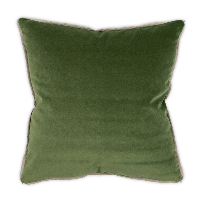 Moss Home Banks Pillow in Emerald, velvet throw pillow, accent pillow, decorative pillow