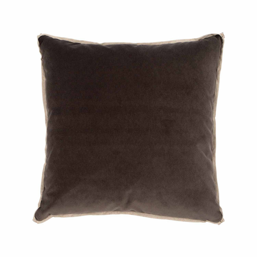 Moss Home Banks Pillow in Godiva, velvet throw pillow, accent pillow, decorative pillow