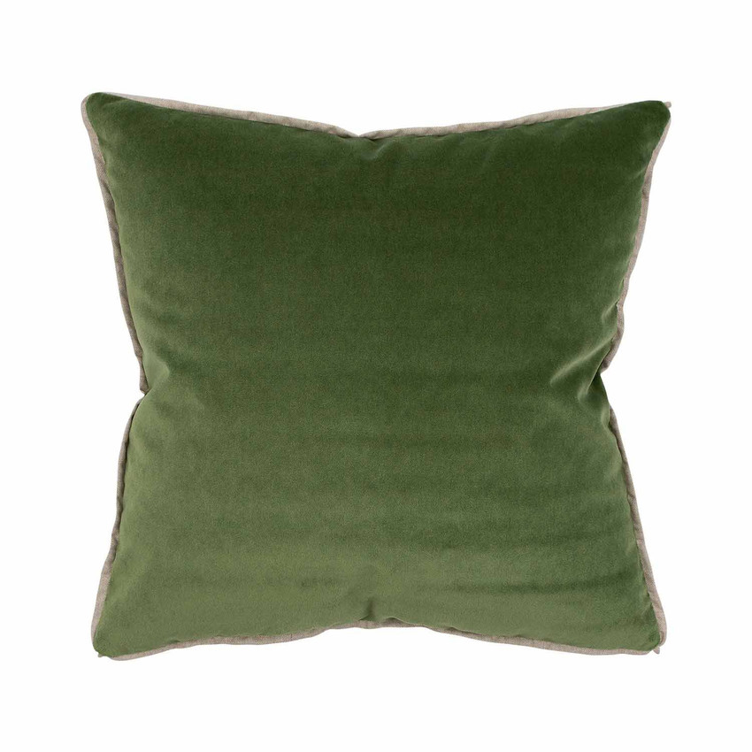 Moss Home Banks Pillow in Ivy, velvet throw pillow, accent pillow, decorative pillow