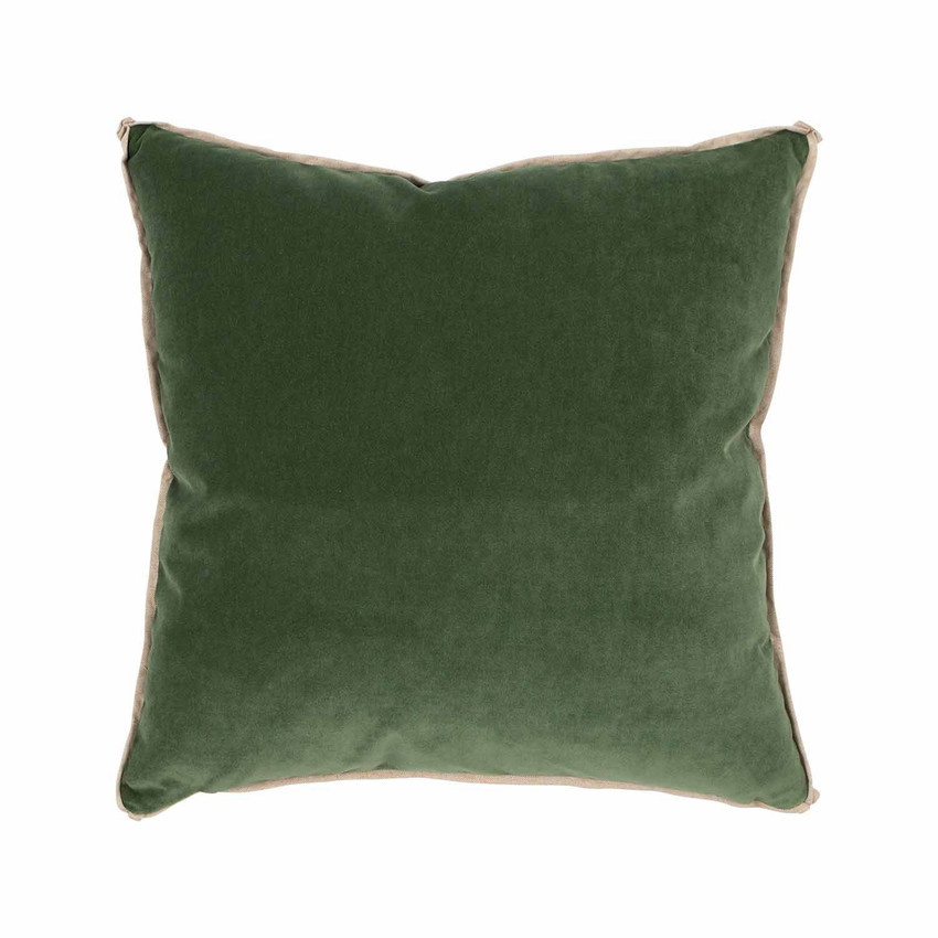 Moss Home Banks Pillow in Jade, velvet throw pillow, accent pillow, decorative pillow