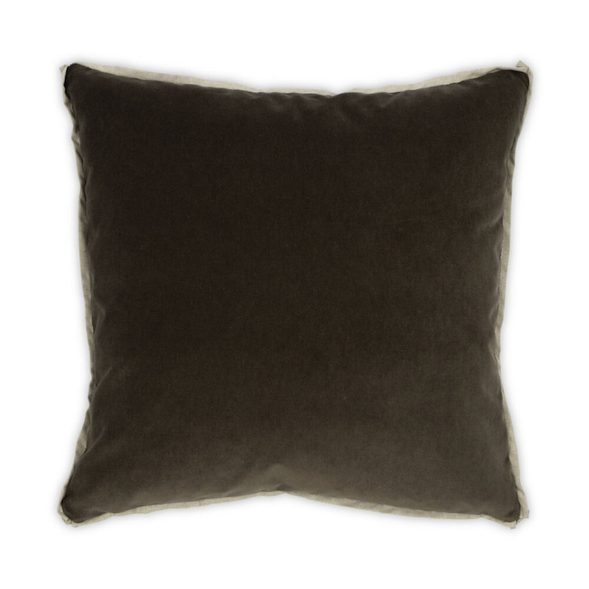 Moss Home Banks Pillow in Mahogany, velvet throw pillow, accent pillow, decorative pillow