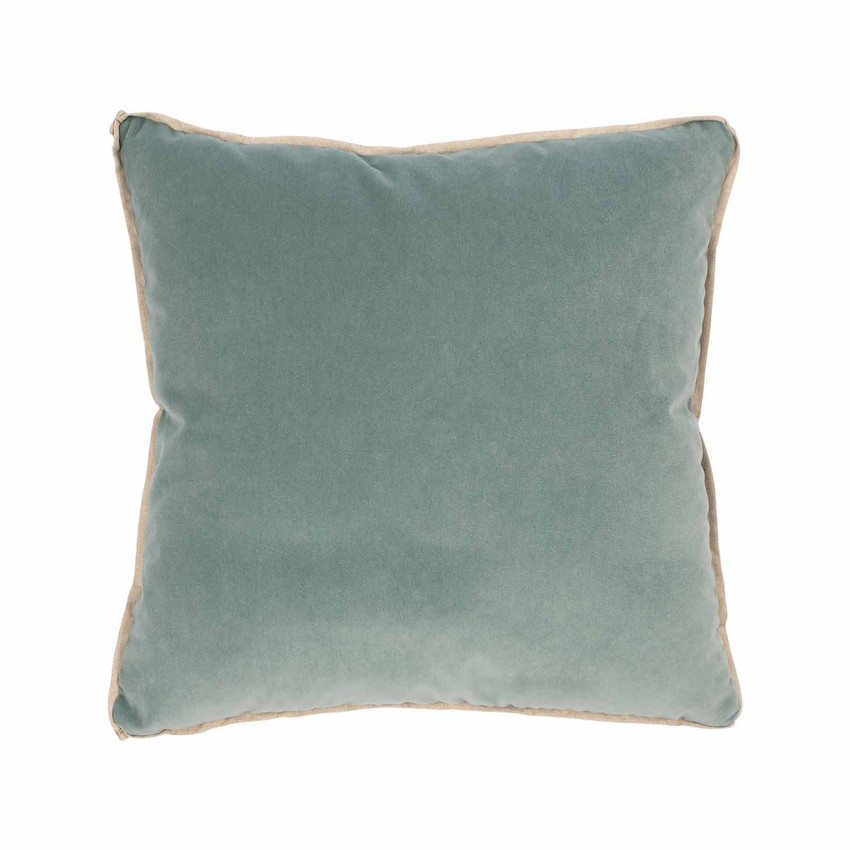 Moss Home Banks Pillow in Mineral, velvet throw pillow, accent pillow, decorative pillow