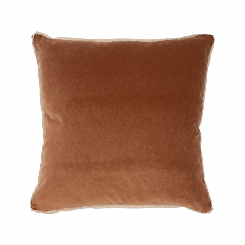 Moss Home Banks Pillow in Nutmeg, velvet throw pillow, accent pillow, decorative pillow