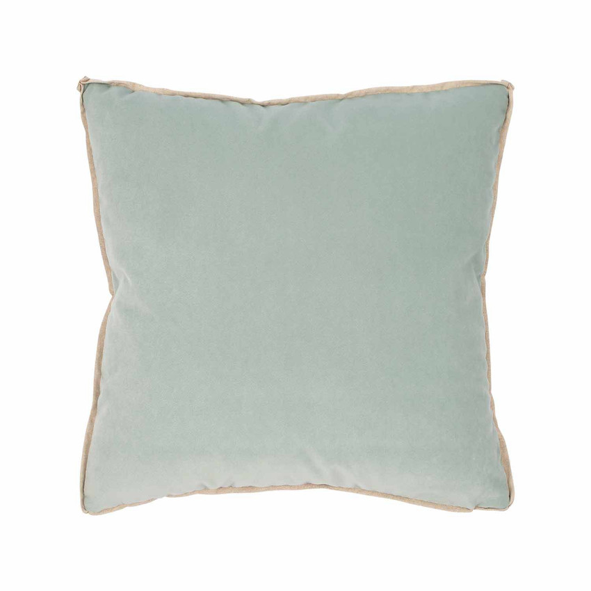 Moss Home Banks Pillow in Shale, velvet throw pillow, accent pillow, decorative pillow