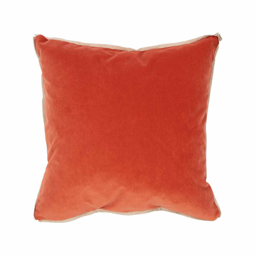 Moss Home Banks Pillow in Tangelo, velvet throw pillow, accent pillow, decorative pillow