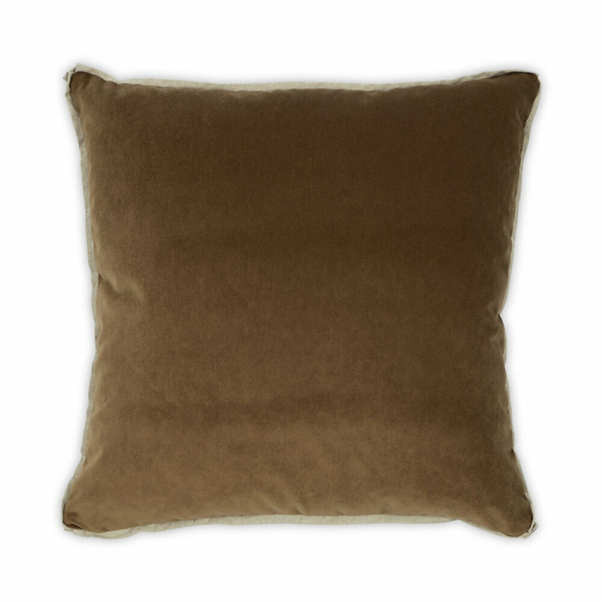 Moss Home Banks Pillow in Toffee, velvet throw pillow, accent pillow, decorative pillow