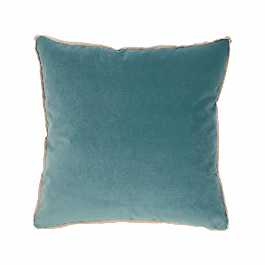 Moss Home Banks Pillow in Turquoise, velvet throw pillow, accent pillow, decorative pillow