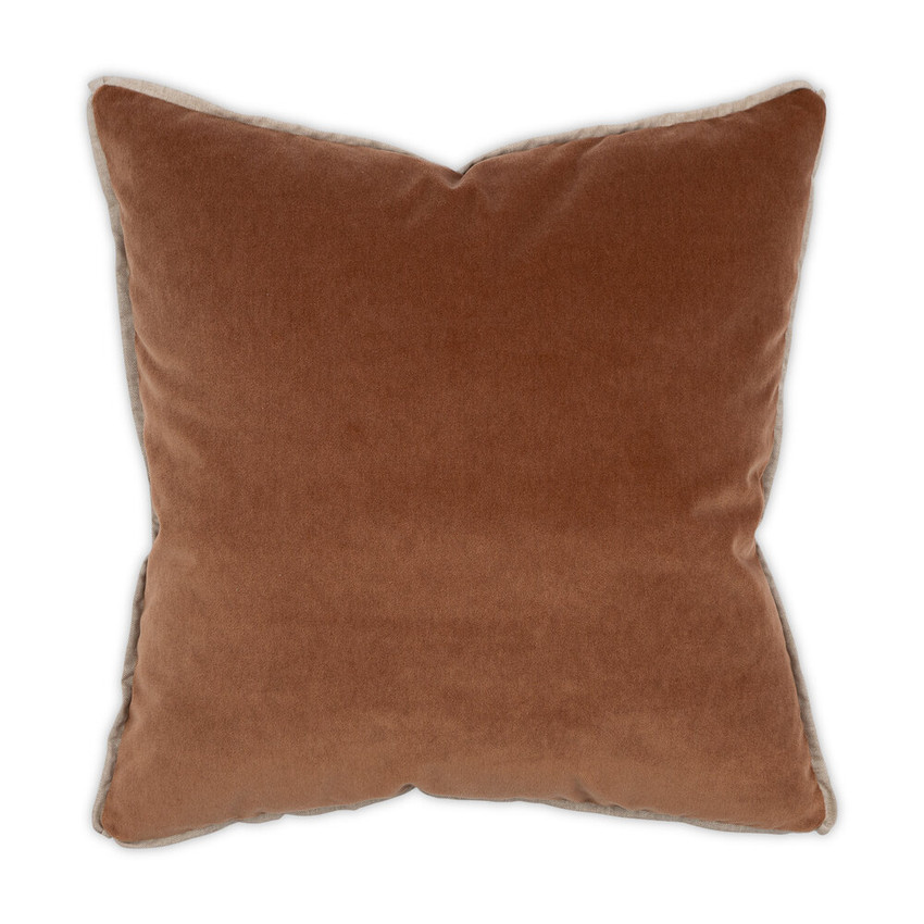 Moss Home Banks Pillow in Yam, velvet throw pillow, accent pillow, decorative pillow