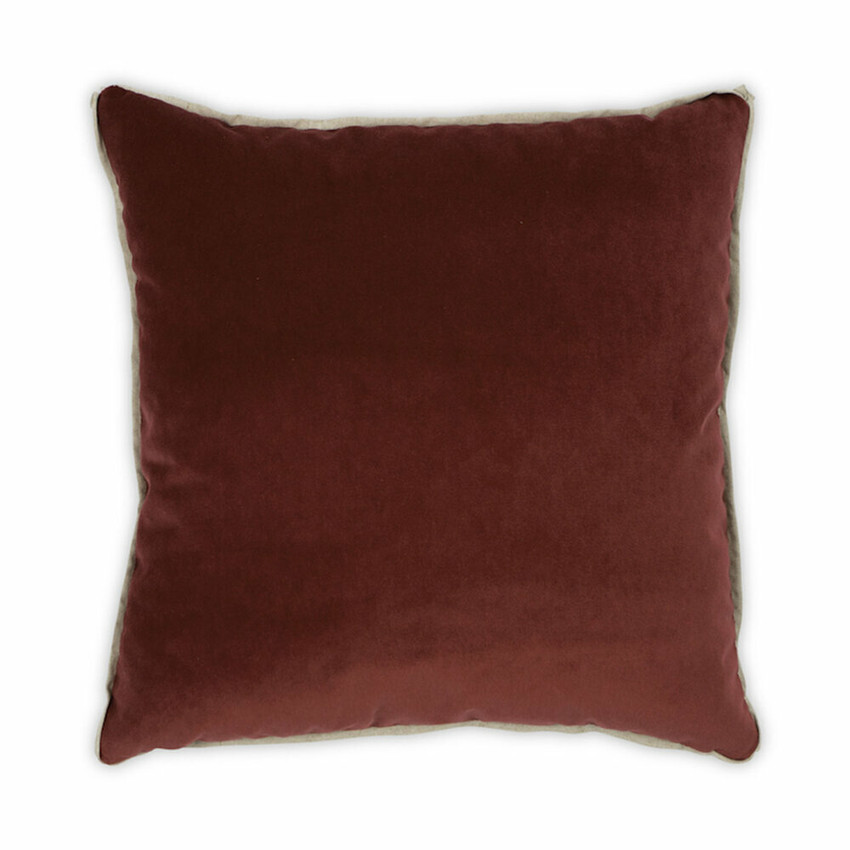 Moss Home Banks Pillow in Zinnia, velvet throw pillow, accent pillow, decorative pillow
