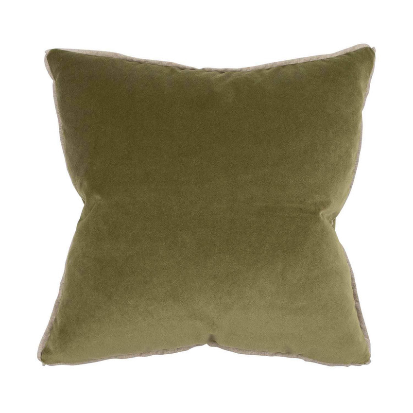 Moss Home Banks Pillow in Zucchini, velvet throw pillow, accent pillow, decorative pillow