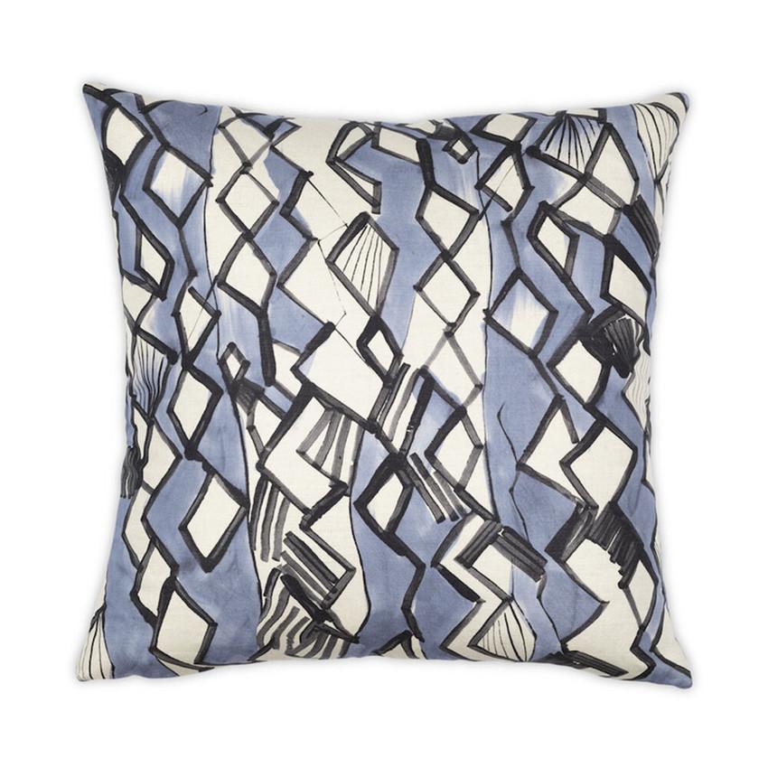 Moss Home Kelly Pillow, trend throw pillow, accent pillow, decorative pillow, kelly trend pillow in blue