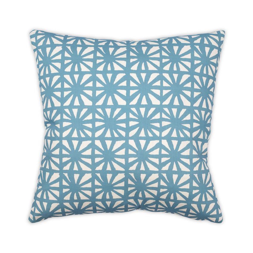 Moss Home Kaleidoscope Pillow, trend throw pillow, accent pillow, decorative pillow, kaleidoscope trend pillow in aqua